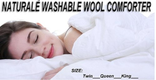 Naturalé Premium Washable Extra Weight 100% Australian Wool Comforter. Clearance Sale