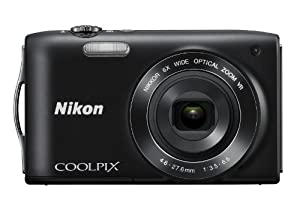 Nikon COOLPIX S3300 16 MP Digital Camera with 6x Zoom NIKKOR Glass Lens and 2.7-inch LCD (Black)