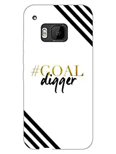 HTC One M9 Cases & Covers - Goal Digger - Designer Printed Hard Shell Case