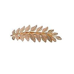 Aaishwarya Gold Plated Leaf design Hair Clip/Hair Accessory For Women & Girls