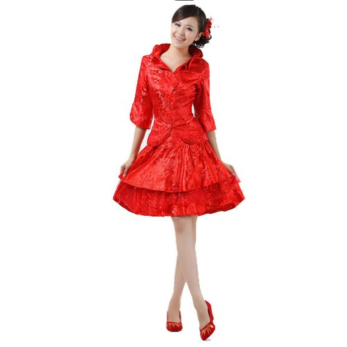 Buluos Full Dress Short Traditional Chinese Wedding