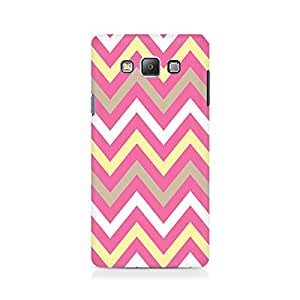 Ebby Yellow And Pink Broad Chevron Premium Printed Case For Samsung On 5