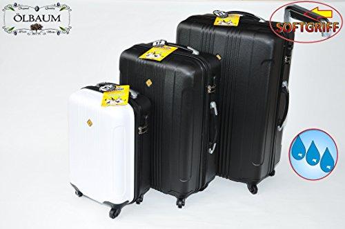 3Piece Suitcase Luggage Set, Spacious Business Cabin Case-Black Hard Case Hardcase Set Waterproof Case Pilot Case, Dimensions: Approximately 80cm/Width Approx. 50cm/Depth approx. 30cm approx. 70x 45X 25/Approx. 50x 35x 22