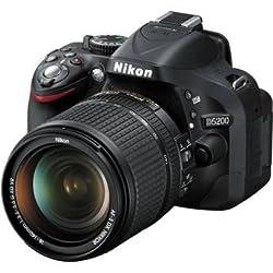 NIKON D5200 Black with AF-S 18-140mm f/1-3.5-5.6 8GB SD CARD & CAMERA BAG
