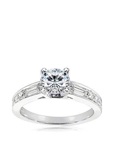 Kobelli 14K White Gold Round Moissanite & Diamond Engagement Ring