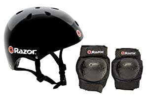 Razor Skater Multi-Sport Helmet and Pad Combo Set by Razor