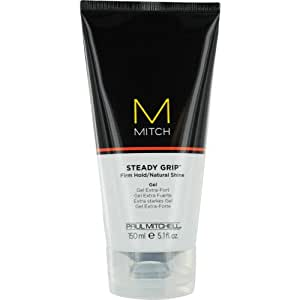 Paul Mitchell Men by Paul Mitchell Men Mitch Steady Grip Firm Hold/natural Shine Gel for Men, 5.1 Ounce