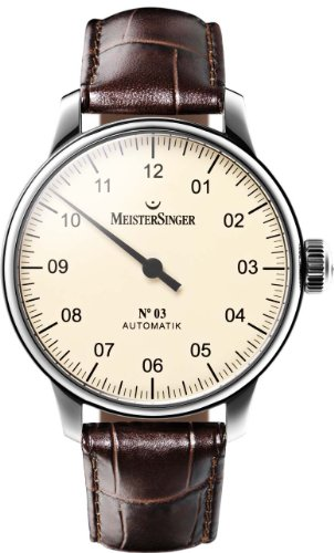 MeisterSinger No 03 Elegante orologio da uomo Design senza tempo