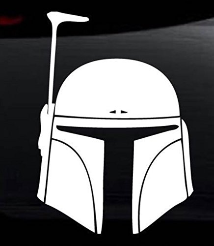 Star Wars Boba Fett Vinyl Decal Sticker for Car Automobile Window Wall Laptop Notebook Etc.... Any Smooth Surface Such As Windows Bumpers | 5 In | KCD215