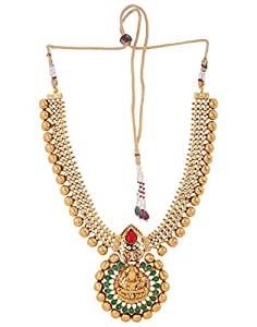 Adwitiya Gold Plated Antique Royal Temple Necklace set