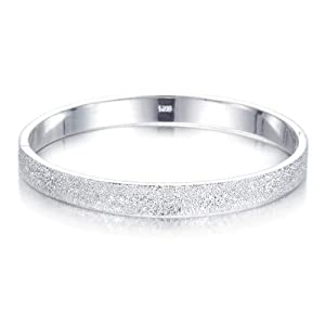 Atlas Jewels Women's .925 Sterling Silver Petite Fashion Cuff Bangle Bracelet Jewelry