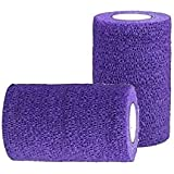 Vet Tape Wrap, Self Adherent Rap Tape, Adhering Stick Bandage, Self Grip Roll (2, 3, or 4 Inches Wide) x 15' Feet - Assorted Colors