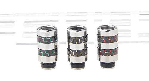 stainless-steel-carbon-fiber-hybrid-510-drip-tip-3-pieces-253mm-ships-one-of-each-color