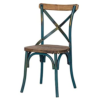 2016 NEW Adeco Metal Chair with Cross Style Back
