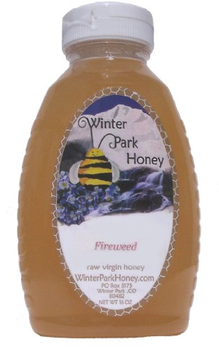 Raw Fireweed Honey 16oz (Pure Natural Honey)