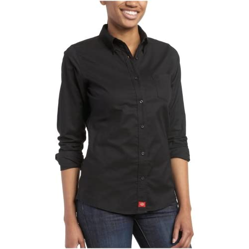 Amazon.com: Dickies Juniors Oxford Long Sleeve Button Down Shirt