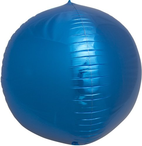 Blue Sphere Helium Foil Balloon - 17 inch