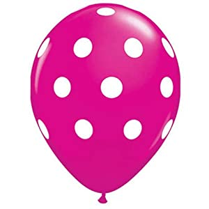 Amazon.com: Party decoration Pink Polka dot balloons (12) latex: Toys