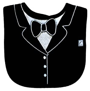 Black Large Tuxedo Bib, Frenchie Mini Couture