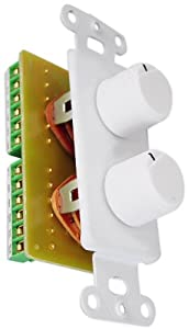 PyleHome PVCD15 In-Wall Two Speaker Dual Knob Independent Volume Control