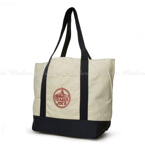 TRADER JOES Cotton Canvas Bag - トレーダー・ジョーズ コットン キャンバス エコ トートバッグ