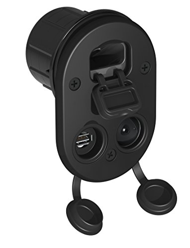 tallon-elite-socket-mount-marine-usb-12v-dc-charger-for-fish-finder-boating-gps-and-mobile-devices