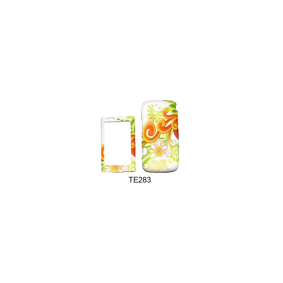 CELL PHONE CASE COVER FOR SAMSUNG SIDEKICK 4G T839 FLOWERS ON WHITE