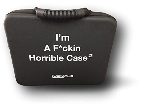 IM A F*CKING HORRIBLE CASE XL for Cards Against Humanity Game Holds All Expansions Packs (black)