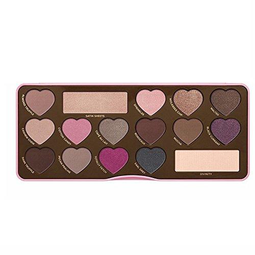 2016 female fashion chocolate bar color eyeshadow plate High quality Beauty Cosmetics Creative Art