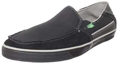 Sanuk Women's Standard Streaker Slip-On Loafer,Black/Grey,11 M US