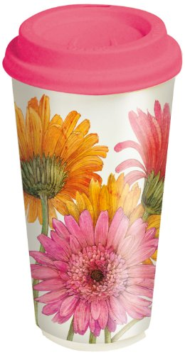 Lang Daisies Ceramic Travel Cup