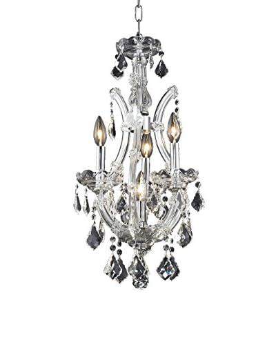 Crystal Lighting Maria Theresa 4-Light Chandelier, Chrome
