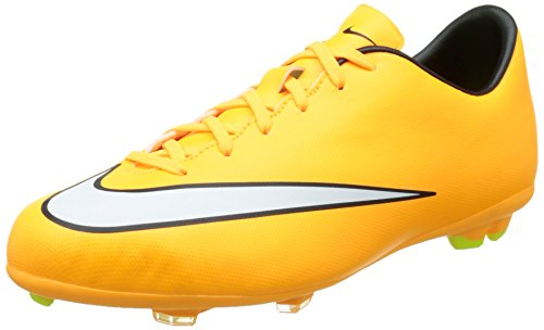 Nike JR Mercurial Victory V FG Scarpe sportive, Ragazzo, Multicolore (Yellow/Black), EU 38.5 (US 6Y)