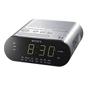 sony icfc218s clock radio silver discontinued by manufacturer tv. Black Bedroom Furniture Sets. Home Design Ideas