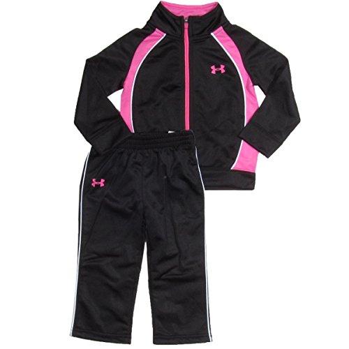 Under Armour Baby-Girls Newborn Pregame Tricot Set, Black, 0-3 Months front-235245