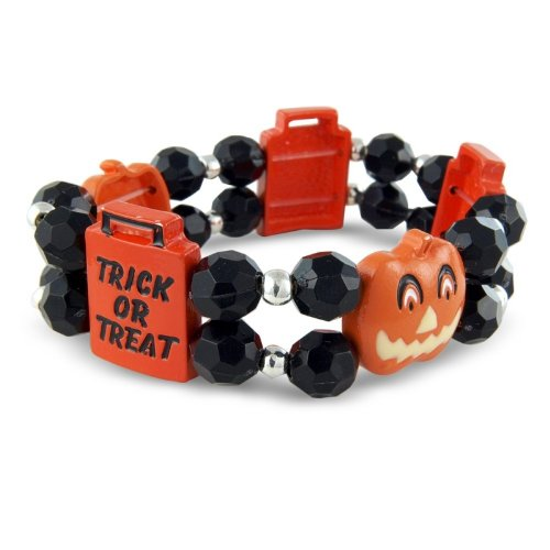 Girls and Boys Halloween Ghost Costume Jewellery Bracelet. Fancy Dress Accessory - Arrives in a little gift bag