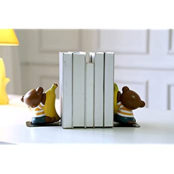 Eastyle Cute Monkey Nonskid Bookend Art Bookends for kids Desk Organizer