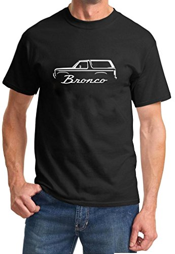 1980-86 Ford Bronco Classic Outline Design Tshirt large black