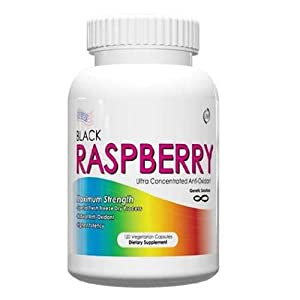 All Natural, Pure Black Raspberry Capsules, 425mg, 120 Capsules, Anti Oxidant Supplement, Great To Use With Astaxanthin, Economy Size, Best Diet Pills, for Natural Appetite Suppression!