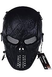 OutdoorMaster Skull Skeleton Airsoft/Paintball/BB Gun/CS Full Face Protect Mask