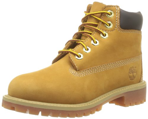 Timberland - Stivali 6 In Classic Boot FTC_6 In Premium WP Boot, Unisex - bambino, Marrone (Braun (Wheat Nubuck)), 23 (6 uk)