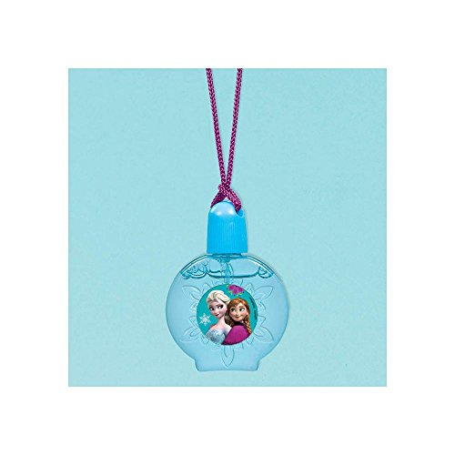 "Amscan Disney Frozen Bubble Necklace Party Favor, Sky Blue/Violet, 2 1/4"" x 1 1/4"" - 1"