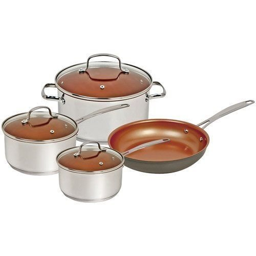 Limited Time Holiday Offer Buy NuWave 7 Piece Duralon Cookware Set Induction Ready Stainless Steel Easy Cooking With Less Oil Enjoy Mega Savings Today