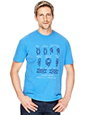 Blue Harbour Pure Cotton Nautical Knots Print T-Shirt