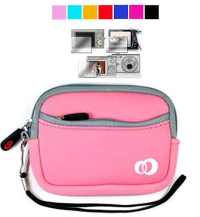 Kodak Easyshare Camera Case for Kodak Easyshare M580 M1063 M1033 M575 + Screen Protector (Baby Pink)