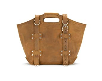 Saddleback Leather Large, Tote Bag in Tobacco: Full-Grain Leather with 100 Year Warranty