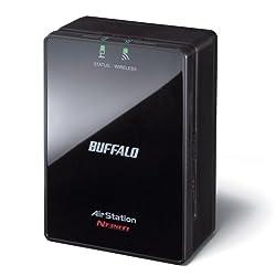BUFFALO AirStation N300 2-Port Dual Band Wireless Ethernet Bridge and Gaming Adapter - WLAE-AG300N