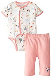 Magnificent Baby Baby-Girls Newborn Short Sleeve Burrito and Pant Set, Girl Seaside, 9 Months