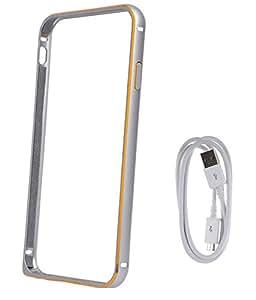 Avzax Bumper Cover For Samsung Galaxy A5 (Silver) + Data Cable