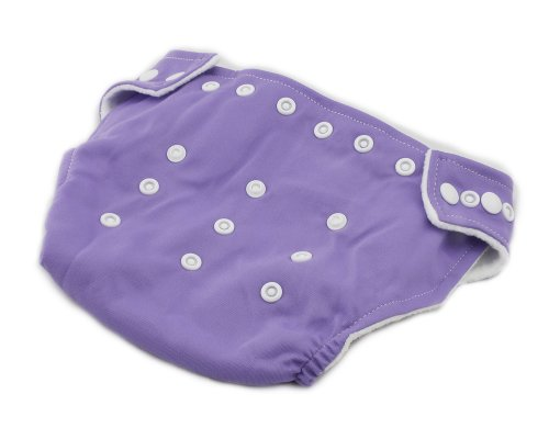 BONAMART ® New Adjustable Size Unisex Reusable Baby Girl Boy Washable Cloth Nappy Diaper Purple